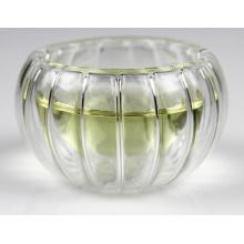 Pumpkin Shape Double Wall Clear Glass Tea Cup