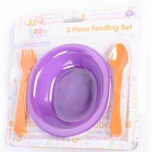 3 PCS Plastic Baby Feeding Sets