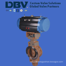 Pneumatic Wholly Metal Seated Wcb High Pressure Butterfly Valve