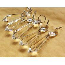 Lustre en cristal de lustre de lustre de lampe suspendue de gouttes de lustres