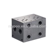 Bloco de válvulas solenóide hidráulico padrão