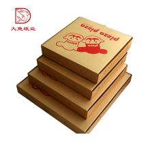 China personalizado impresso caixa de pizza de comida descartável de papelão ondulado