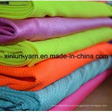 Tela transpirable para ventilar la tela de lycra textil con flujo de aire