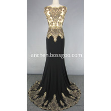 Lace beads Sleeveless Mermaid Party Prom gowns