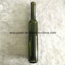 Venta al por mayor 375 ml botellas de vino de vidrio de vidrio verde oscuro