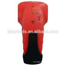 Electronic detector stud finder with AC warning