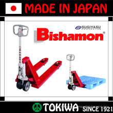 JIS утвержден и прочный Бисямон серии ручная гидравлическая тележка. Изготовленный Sugiyasu. Сделано в Японии (электрические тележки)