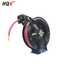 A18 Heavy Duty Spring Rewind steel air oil hose reel with retractable hose
