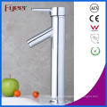 Fyeer Chrome Plated High Body Downward Long Spout Single Handle Wash Basin Faucet Sink Water Mixer Tap Wasserhahn