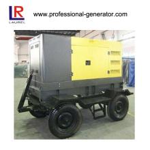 Gerador de diesel móvel com movimento de 4 rodas