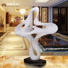 Fabriqué en Chine figurine de résine décoration intérieure forme de nuage blanc résine art artisanat pour décoration intérieure