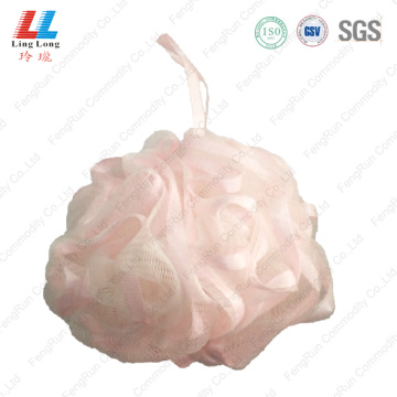 Loofah ribbon lace sponge ball