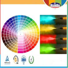 Ecofriendly personalizado de color epoxi poliéster resina híbrido interior revestimiento decorativo en polvo