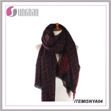 2015winter nueva costumbre barato bufanda de cachemira de punto bufanda de tartán grueso bufanda de cachemira