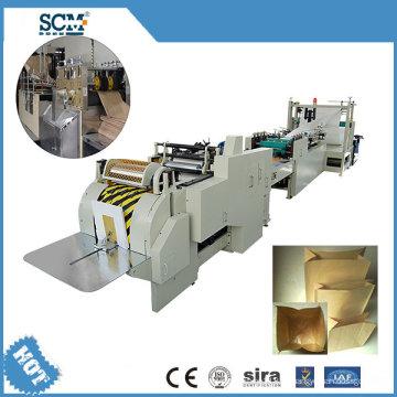 Kraft Square Bottom Papiertüte Making Machine / Lebensmittelgeschäft Tasche Making Machine