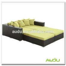 Sofá-cama quadrada Audu Sofá-cama de rattan