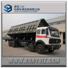 30cubic 50t Beiben / North Benz 8X4 Heavy Side Tipper Truck
