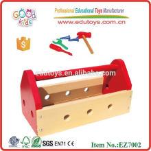 Equipamentos educativos Brinquedos de caixa de ferramentas de madeira