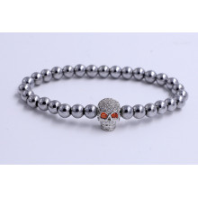 New Fashion Design for China Men'S Bead Bracelet,Retro Style Bead Bracelet,Wholesale Bead Bracelet Supplier Handmade Stainless Steel Skull Charm Beads Bracelets supply to United States Factories
