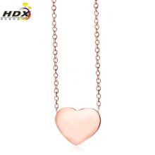 Collar de moda de amor, 18k collar de oro rosa collar de joyas de acero inoxidable (hdx1119)