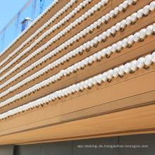 Umweltfreundliche Wood-Plastic Composites WPC Wandverkleidung