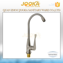 Water save nickel brushed deck mounted kitchen sink faucet