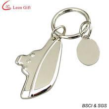 Vente chaude blanc métallique Cool porte-clés (LM1553)
