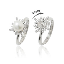 Ready to Ship High End Rotate Freely Ring Silver Fidget Anxiety Ring