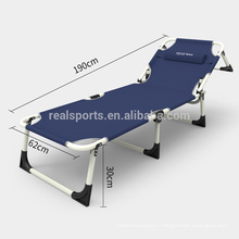 New Three Folds Outdoor Sun Loungers Folding Portable Beach Bed
