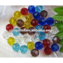 Perles en verre de couleurs mixtes de 8 mm, perles rondes