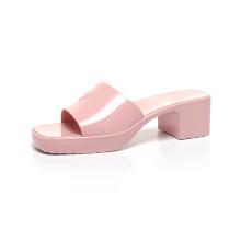Luxury Sandals Women Shoes Slipper PVC Outdoor High Heel Slipper Jelly Sandal Fashion Women's rubber slide sandal