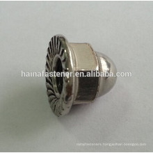 stainless steel ss304 hex flange cap nut 3/8''-16