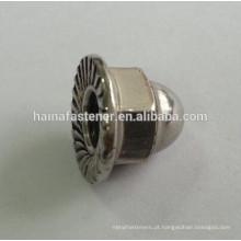 Aço inoxidável ss304 flange sextavado porca 3/8 '' - 16