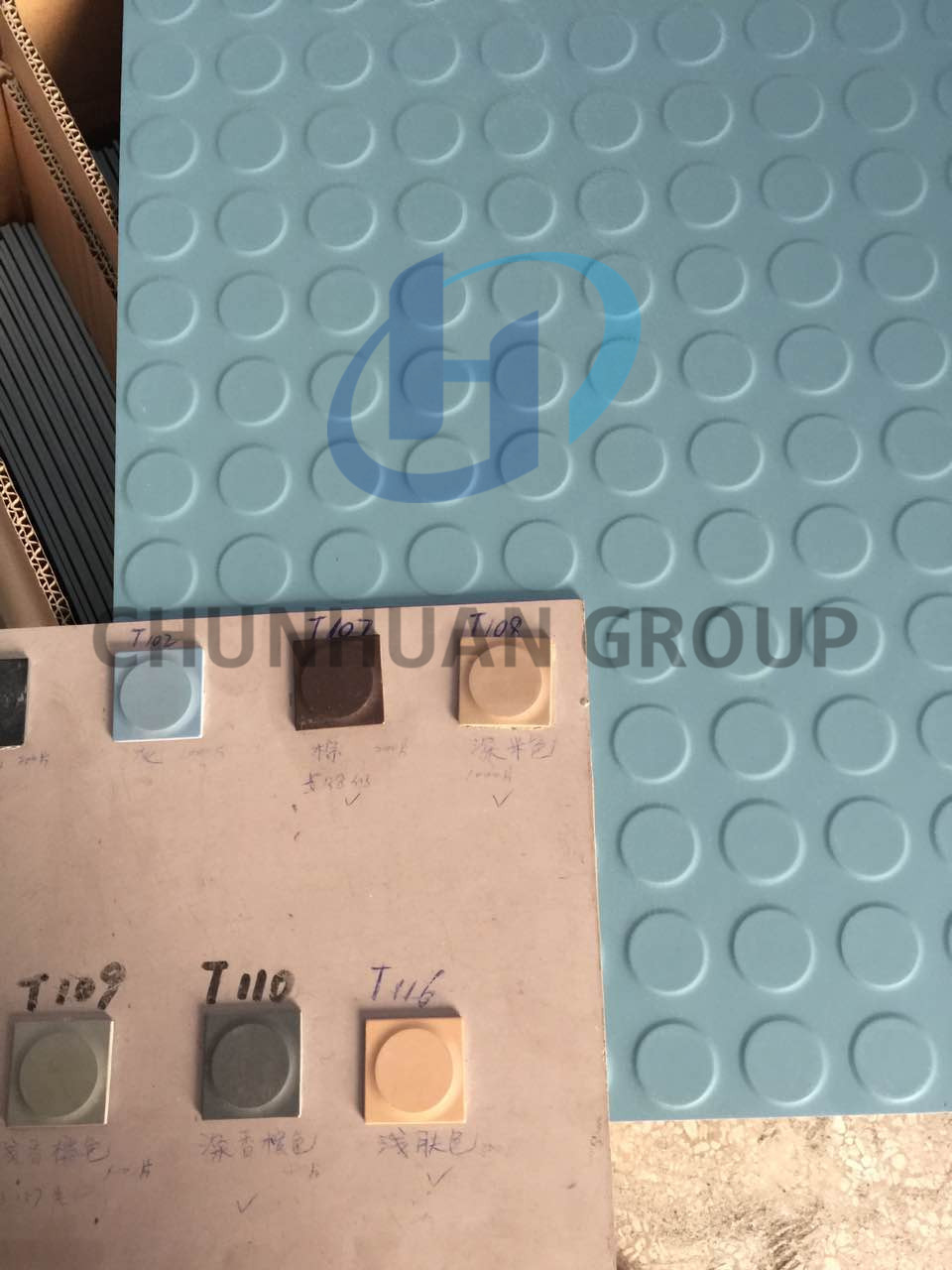 Colorful  Round Stud Rubber Tiles