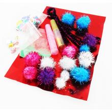 cadeau et bricolage, pompon paillettes fête festival, Fun poms