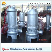 Pompe d'eaux usées submersible électrique sans obstruction centrifuge