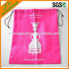 HOT Pink promotional gift non woven drawstring bag