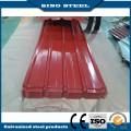 Hoja de acero acanalada galvanizada prepintada con alta calidad