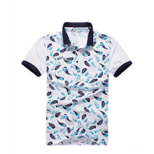 Short Sleeve Carbon Fiber Free Sample Printing Polo Shirt for Men