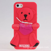 New Cute little bear silicone case for iphone 5/5s