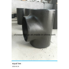 """Pipe Fitting Seamless 18 """"Std Carbon Steel Straight Tee"""