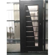 Porte intérieure carrée avec finition en fer, finition propre