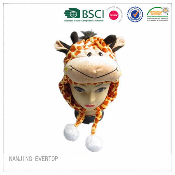 Newest Style Giraffe Soft Touch Animal Hat