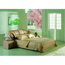 984 Classic Design Genuine Leather Bed,Luxury Bed