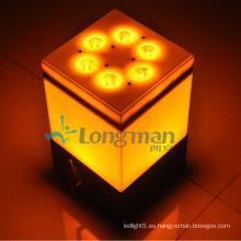 9PCS 14W Rgbawuv pequeñas luces LED inalámbricas con batería