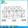 600 greenhouse sheet with polycarbonate sheet and aluminum frame