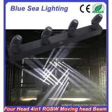 4pcs x 10W RGBW 4in1 led mini beam wash moving head