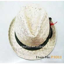 Бумажная рафия фетровая шляпа