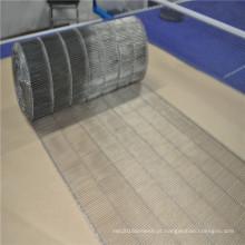Correia transportadora de aço inoxidável da escada da rede de arame para a transferência de pão