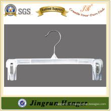 Transparent White Plastic PP Hanger pour pantalons